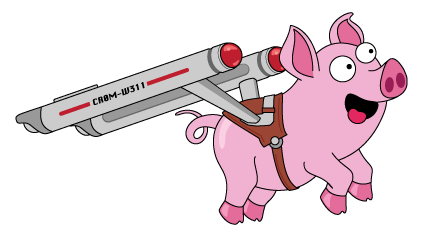 Jamie, the Cromwell pig